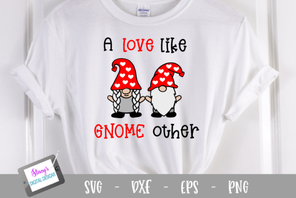 Download Free Valentine Gnomes Graphic By Stacysdigitaldesigns Creative Fabrica for Cricut Explore, Silhouette and other cutting machines.