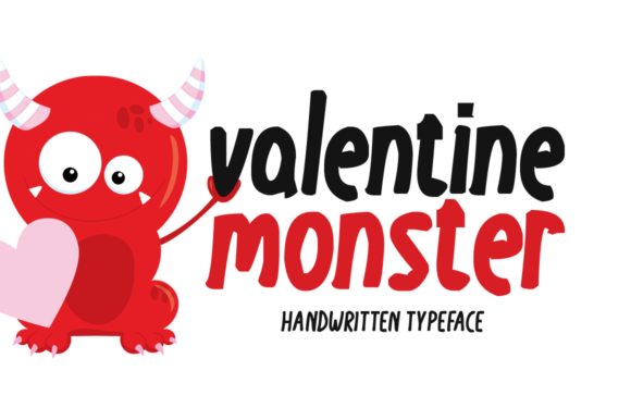 Print on Demand: Valentine Monster Display Font By Instagram Fonts