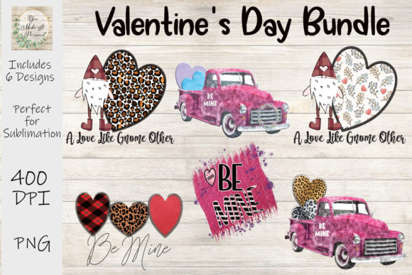 Print on Demand: Valentines Day Bundle, Be Mine, Gnomes Gráfico Plantillas para Impresión Por You Make It Personal