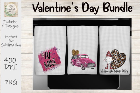 Print on Demand: Valentines Day Bundle, Be Mine, Gnomes Graphic Print Templates By You Make It Personal - Image 3