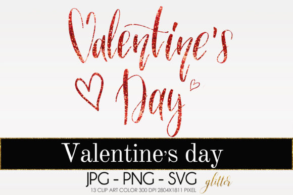 Valentine S Day Clip Art Glitter Graphic By Therosemind