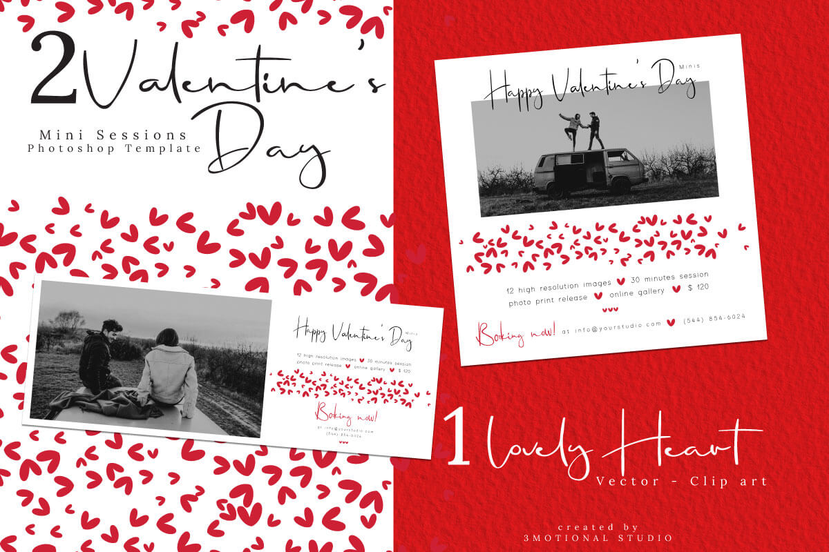 Valentine S Day Mini Session Template Graphic By 3motional