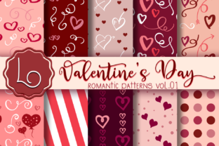 Download Free Valentine S Day Romantic Patterns Vol 01 Graphic By La Oliveira for Cricut Explore, Silhouette and other cutting machines.
