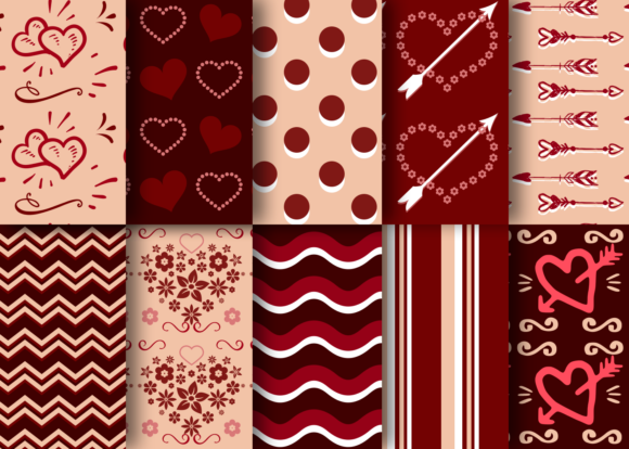 Print on Demand: Valentine's Day Romantic Patterns Vol 02 Graphic Patterns By La Oliveira - Image 2