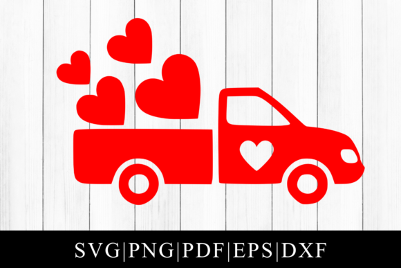 Download Free Valentines Day Truck Cut File Graphic By Mockup Venue Creative for Cricut Explore, Silhouette and other cutting machines.