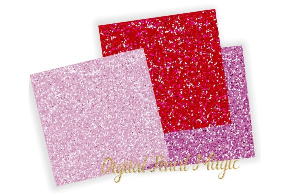 Download Free Valentines Glitter Papers Pink Textures Graphic By for Cricut Explore, Silhouette and other cutting machines.