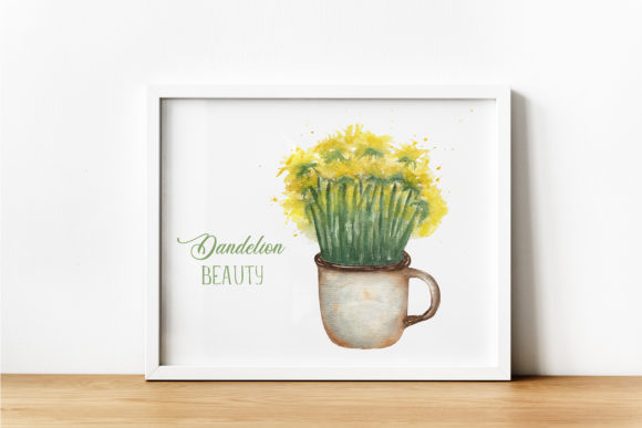 Watercolor Dandelion Beauty Graphic Illustrations By Maya Navits