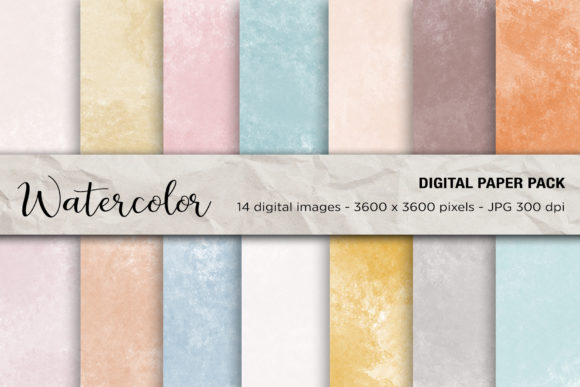 Watercolor Digital Paper Backgrounds Graphic Backgrounds By mertakdere19