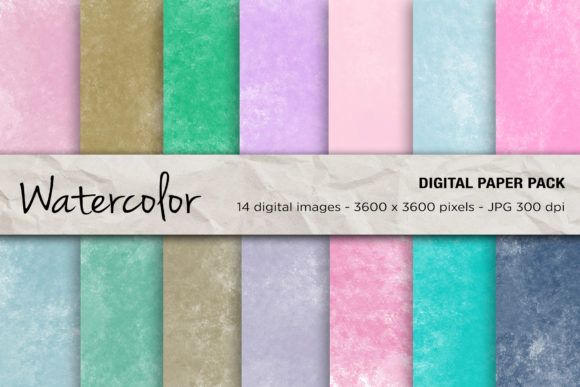 Watercolor Digital Papers, Background Graphic Backgrounds By mertakdere19