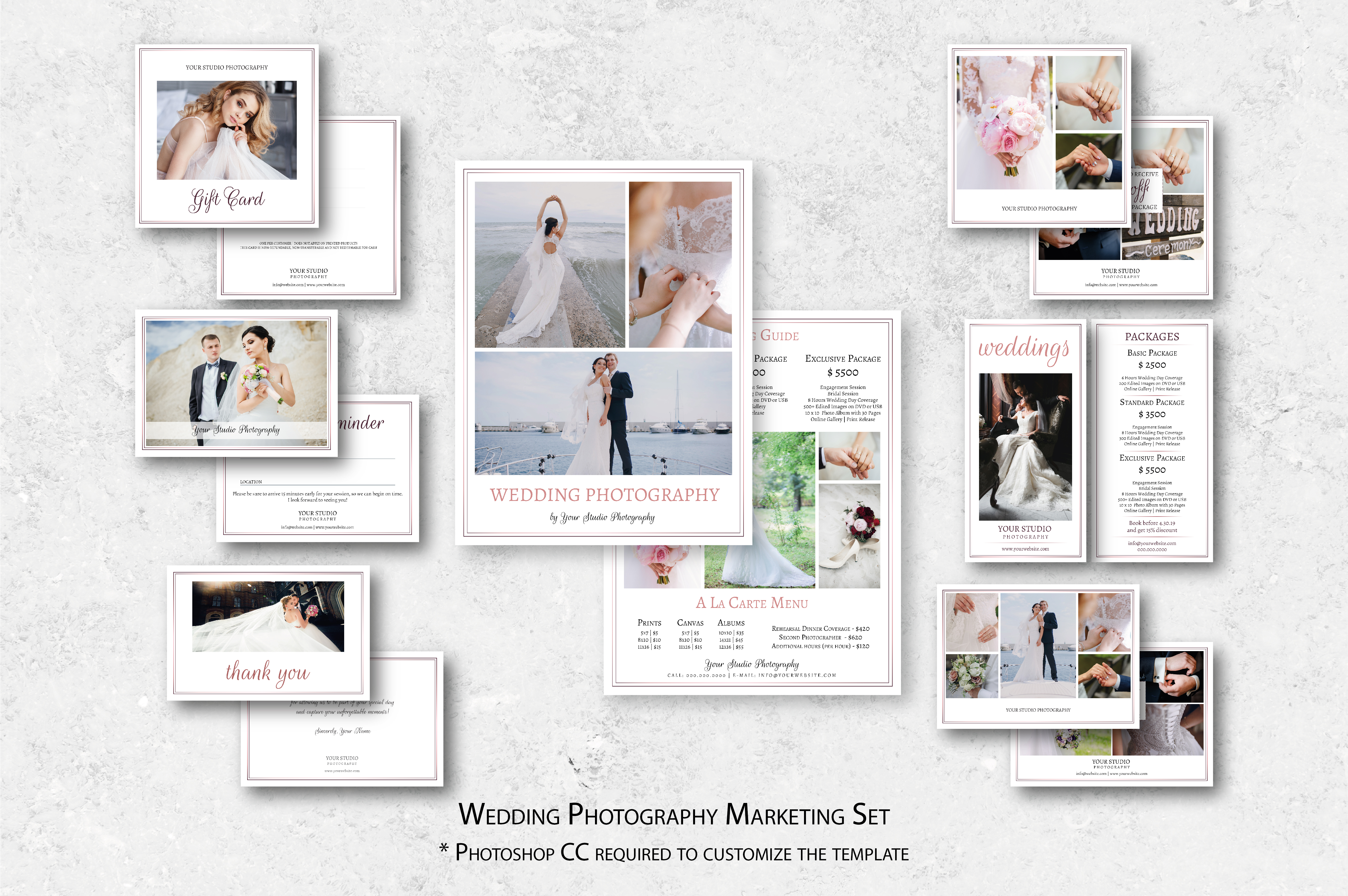 Download Free Wedding Photography Marketing Set Graphic By Designcafeart for Cricut Explore, Silhouette and other cutting machines.