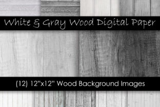 White & Gray Wood Textures Graphic Textures By GJSArt 1