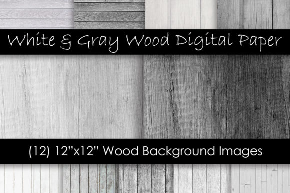 White & Gray Wood Textures Graphic Textures By GJSArt - Image 1