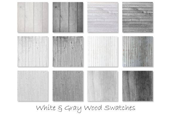 White & Gray Wood Textures Graphic Textures By GJSArt - Image 2