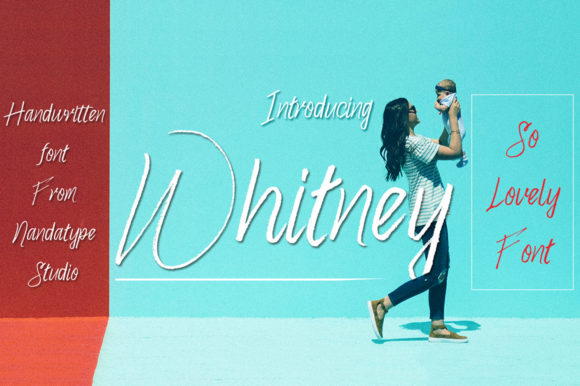 Print on Demand: Whitney Script & Handwritten Font By Nandatype