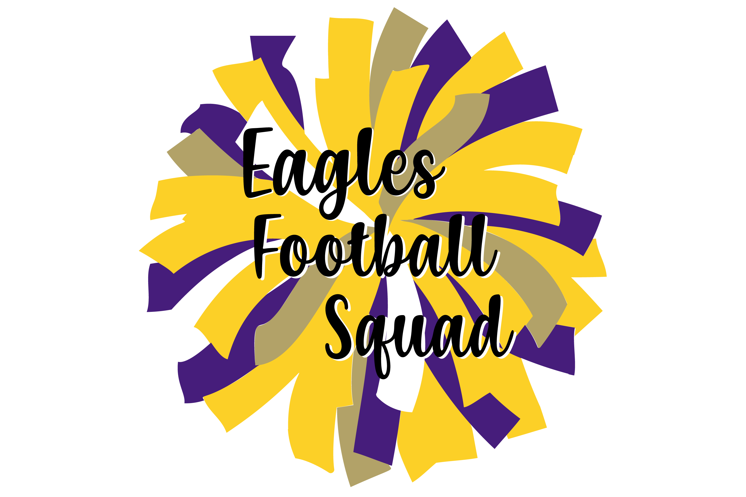 Download Free Yellow Purple And Gold Eagles Pom Grafico Por Angela Wheeland for Cricut Explore, Silhouette and other cutting machines.