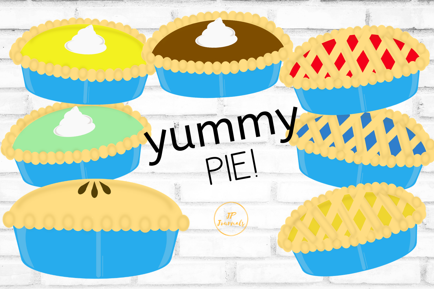 Download Free Yummy Pies Clip Art Graphic By Jpjournalsandbooks Creative Fabrica for Cricut Explore, Silhouette and other cutting machines.