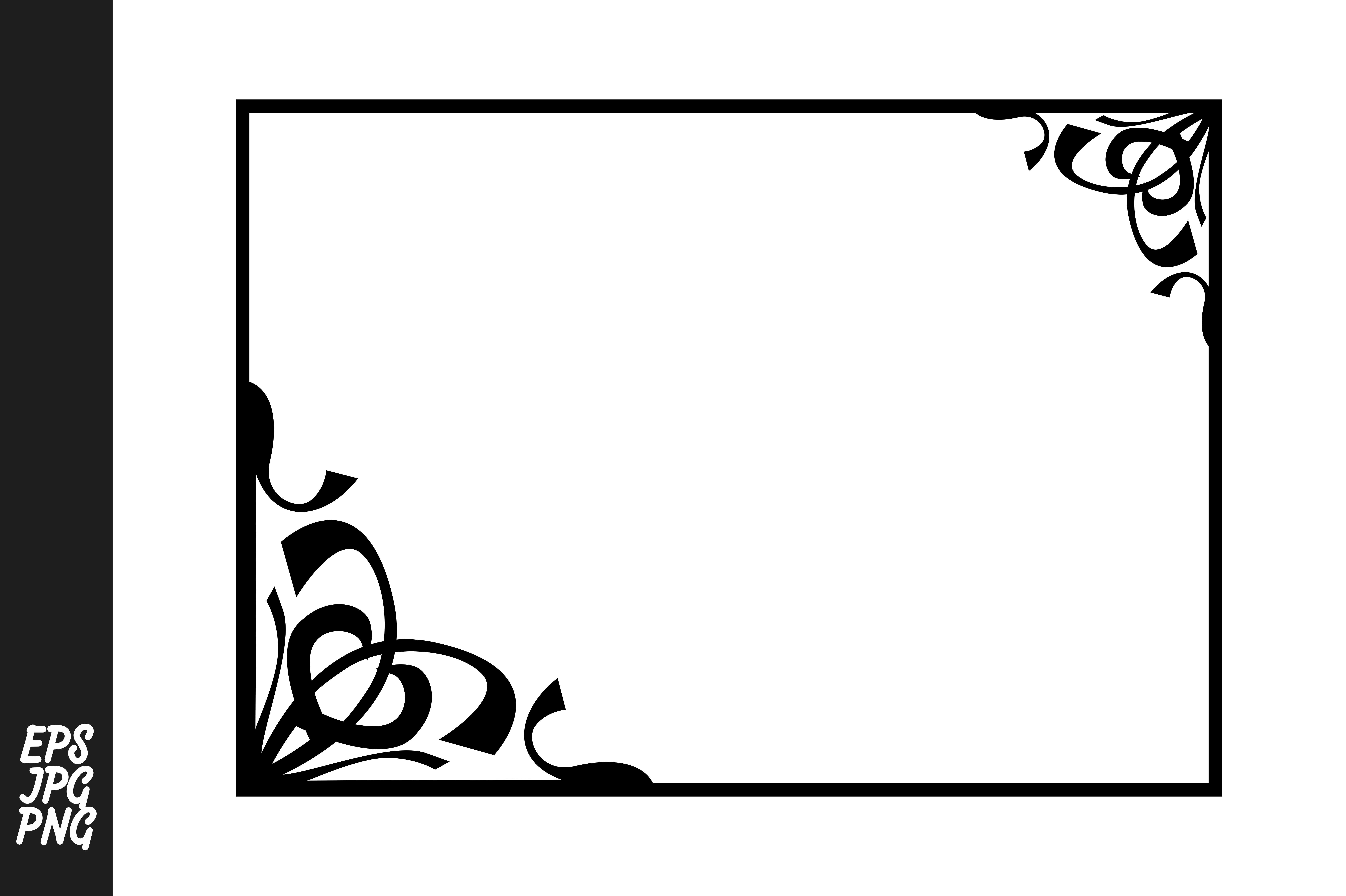 Download Free Frame Border Ornament Vector Decoration Graphic By Arief Sapta for Cricut Explore, Silhouette and other cutting machines.