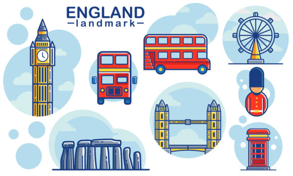 Download Free Icon And Landmark England Graphic By Donikudjo Creative Fabrica for Cricut Explore, Silhouette and other cutting machines.