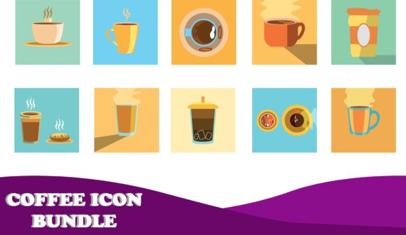 Download Free 10 Coffee Icon Bundle Graphic By Purplebubble Creative Fabrica for Cricut Explore, Silhouette and other cutting machines.