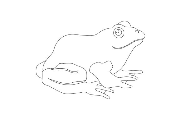 Frog Line Art Animals Craft Cut File By Creative Fabrica Crafts