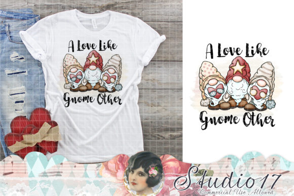 Print on Demand: A Love Like Gnome Other Grafik Plotterdateien von Studio 17 Designs