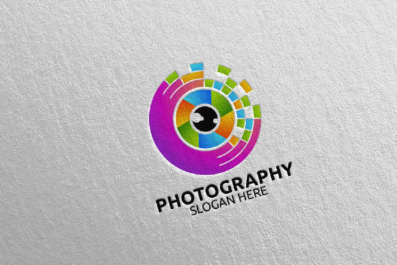 Download Free Abstract Camera Photography Logo 38 Graphic By Denayunecf for Cricut Explore, Silhouette and other cutting machines.