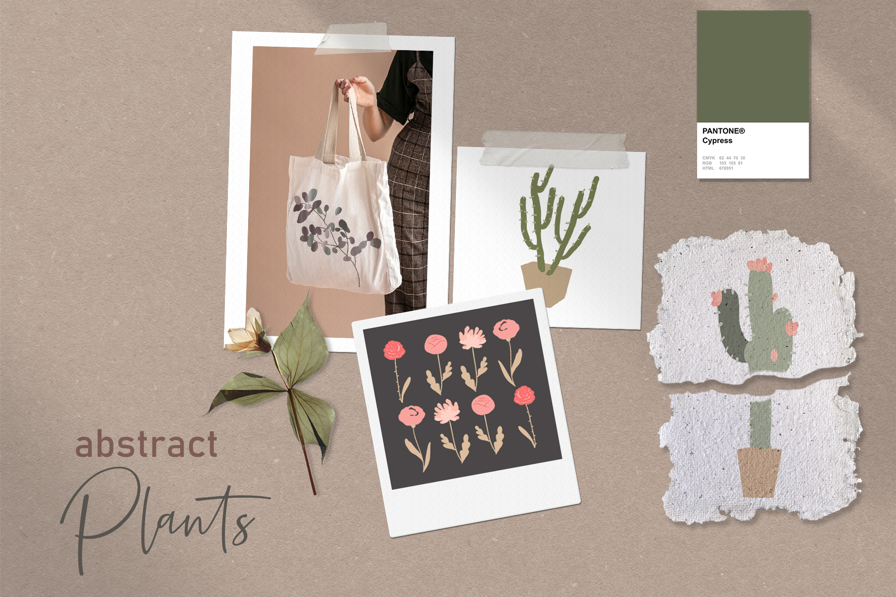 Download Free Abtract Minimalistic Plants Graphic By Kaleriiatv Creative Fabrica for Cricut Explore, Silhouette and other cutting machines.