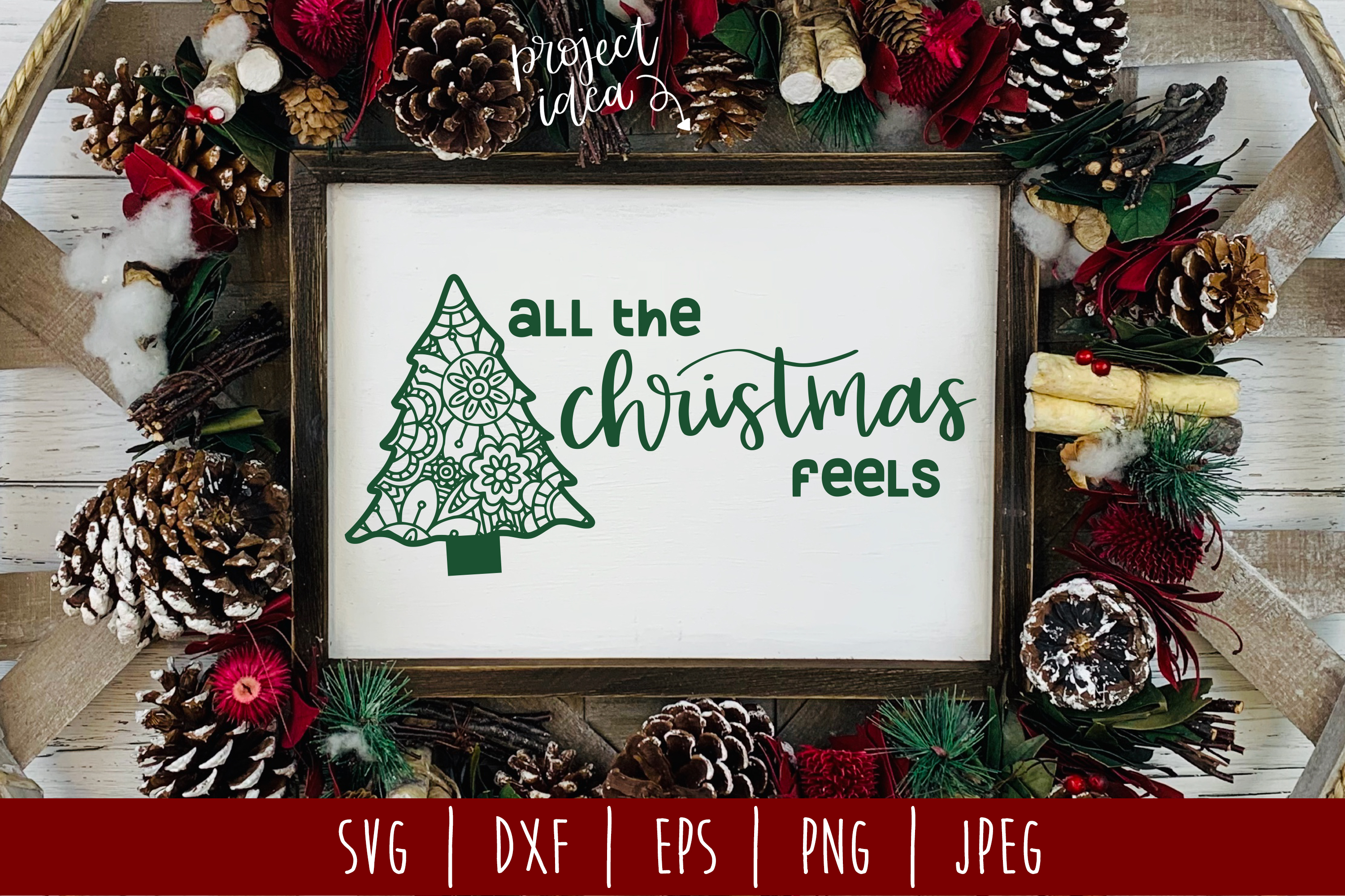Download Free All The Christmas Feels Svg Graphic By Savoringsurprises for Cricut Explore, Silhouette and other cutting machines.