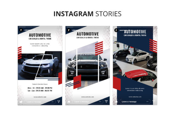 Download Free Automotive Instagram Stories Graphic By Formatikastd Creative for Cricut Explore, Silhouette and other cutting machines.