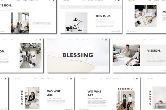 BLESSING - Keynote Template Graphic Presentation Templates By balyastd