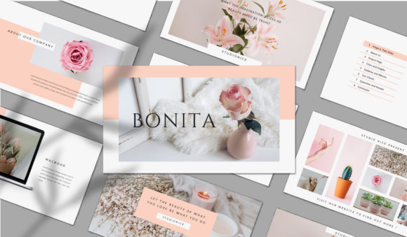 BONITA - PowerPoint Template Graphic Presentation Templates By balyastd