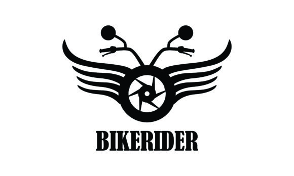 Download Free Bike Motorcycle Rider Logo Design Motor Graphic By Deemka Studio for Cricut Explore, Silhouette and other cutting machines.