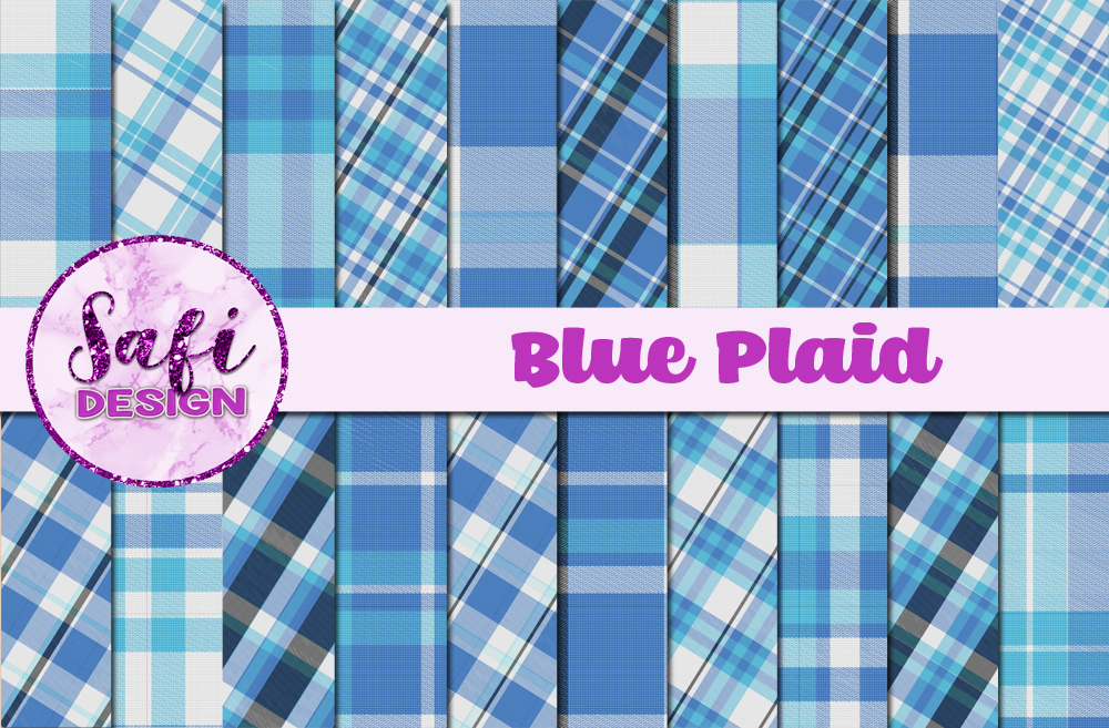 Download Free Blue Plaid Backgrounds Graphic By Safi Designs Creative Fabrica for Cricut Explore, Silhouette and other cutting machines.