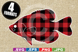 Download Free Buffalo Plaid Black Crappie Fish Graphic By Idrawsilhouettes for Cricut Explore, Silhouette and other cutting machines.