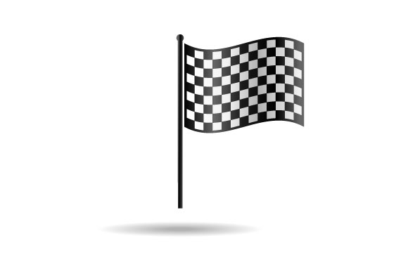 Checkered Flag Vector Graphic By Hartgraphic Creative Fabrica