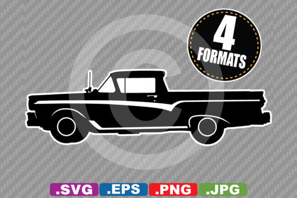 Download Free Classic Antique 1957 Car Silhouette Graphic By for Cricut Explore, Silhouette and other cutting machines.