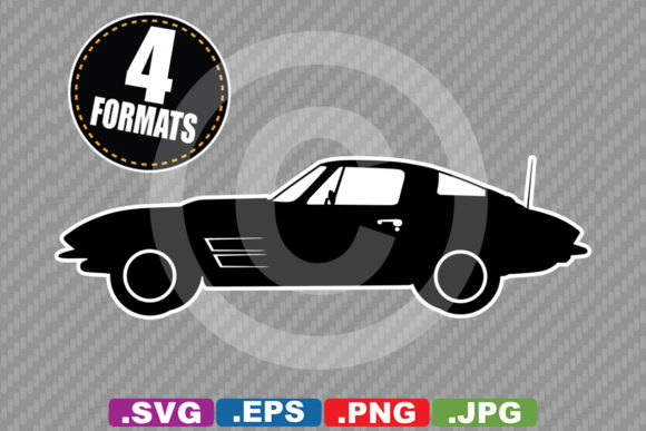 Classic / Antique 1964 Sports Car Graphic Illustrations By iDrawSilhouettes