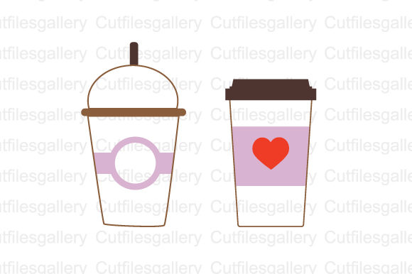 Download Free Coffee Cup Monogram Svg Graphic By Cutfilesgallery Creative for Cricut Explore, Silhouette and other cutting machines.