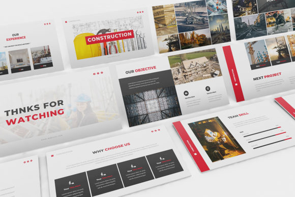 Construction Powerpoint Template Graphic Presentation Templates By formatikastd