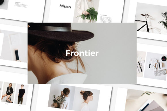 FRONTINER - Keynote Template Graphic Presentation Templates By balyastd
