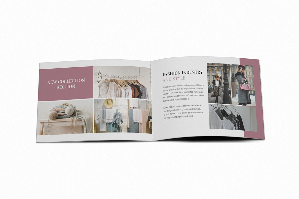 Download Free Fashion A5 Brochure Template Graphic By Formatikastd Creative for Cricut Explore, Silhouette and other cutting machines.