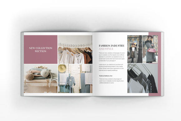 Download Free Fashion Square Brochure Template Graphic By Formatikastd for Cricut Explore, Silhouette and other cutting machines.