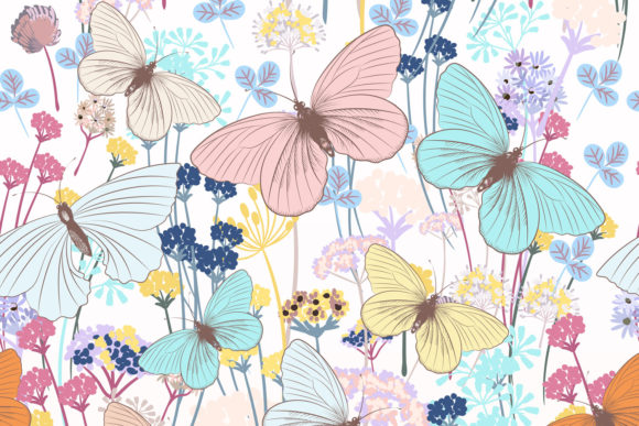 Fashion Floral Pattern with Butterflies Graphic Patterns By fleurartmariia - Image 3