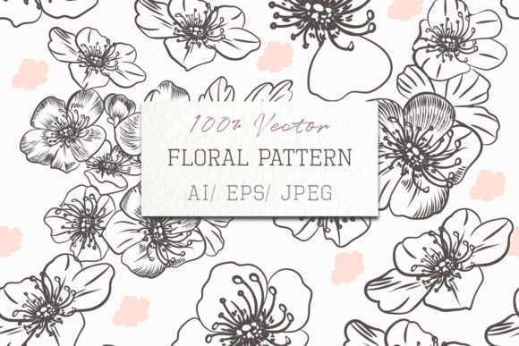 Fashion Vector Pattern with Flowers Graphic Patterns By fleurartmariia