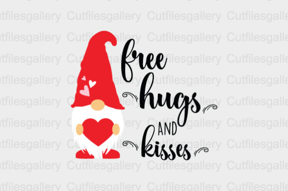 Download Free Free Hugs And Kisses Svg Graphic By Cutfilesgallery Creative for Cricut Explore, Silhouette and other cutting machines.