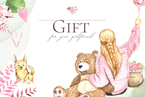 Print on Demand: Gift to Your Girlfriend Graphic Illustrations By laffresco04 - Image 1