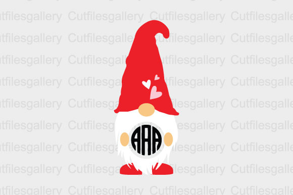 Download Free Gnome Monogram Graphic By Cutfilesgallery Creative Fabrica for Cricut Explore, Silhouette and other cutting machines.
