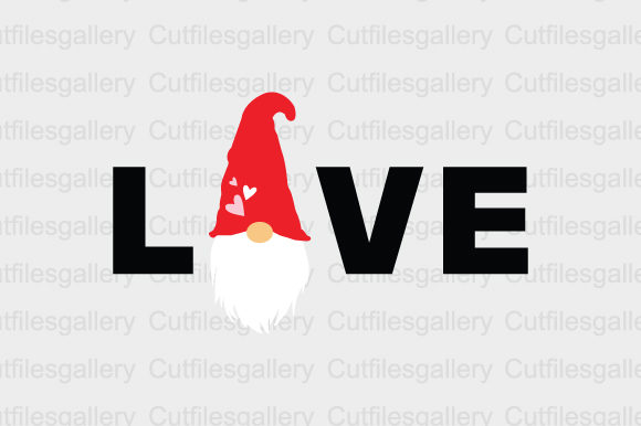 Download Free Gnome Love Graphic By Cutfilesgallery Creative Fabrica for Cricut Explore, Silhouette and other cutting machines.