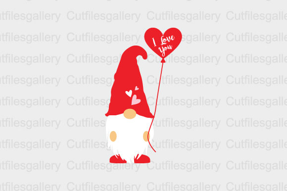 Download Free I Love You Svg Gnome Svg Graphic By Cutfilesgallery Creative for Cricut Explore, Silhouette and other cutting machines.
