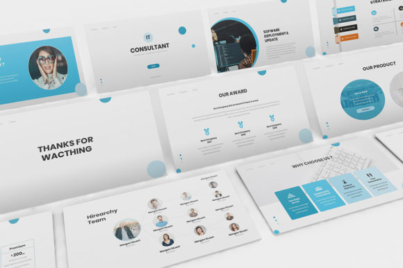 Download Free It Consultant Powerpoint Template Graphic By Formatikastd for Cricut Explore, Silhouette and other cutting machines.
